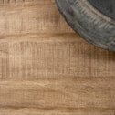 SoHome Industriële Eettafel 'Ivo' Mango en metaal, kleur Blank Antiek