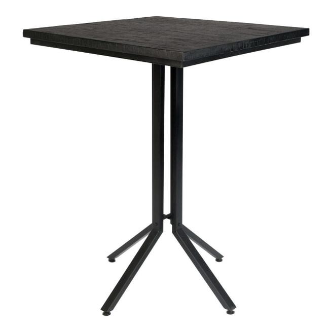 ZILT Bartafel 'Dinelson', Kleur zwart 75 x 75cm hoogte 110cm