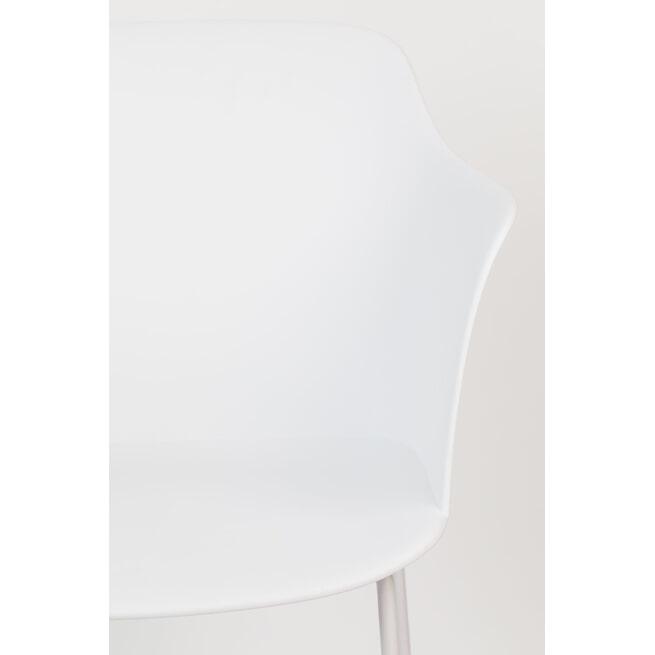 ZILT Eetkamerstoel 'Vivi', kleur Wit