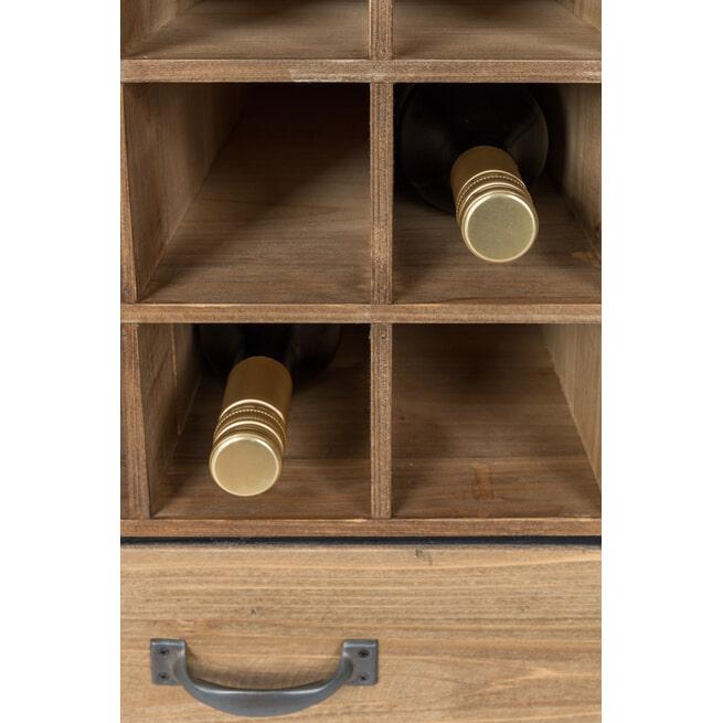 ZILT Industrieel Wijnkastje 'Joba' met 2 laden, 112,5 x 56cm