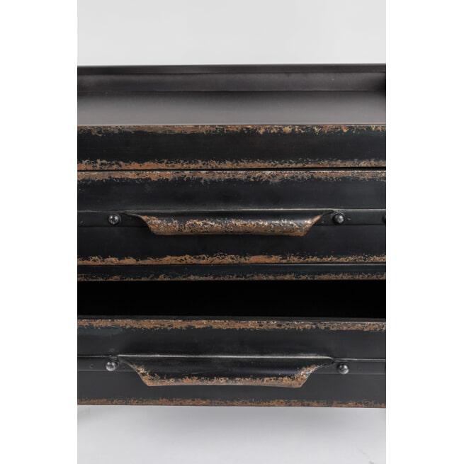 ZILT Metalen Wandrek 'Geovany', kleur zwart