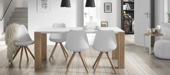 witte eetkamerstoelen kopen? • grote collectie | meubelpartner